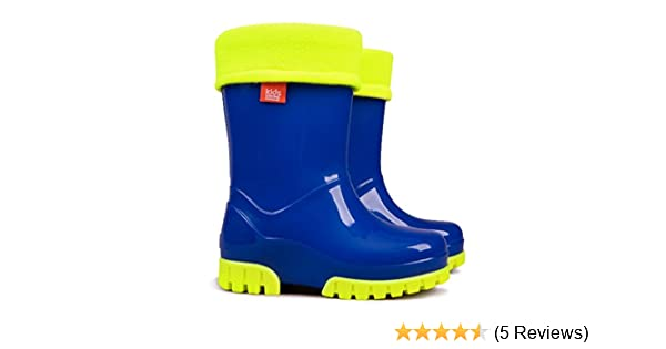 Kids Boys Girls Wellies Wellington Boots Rainy Snow Fluo Neon Thermal Liner  78 UK  2425 EU  153cm Amazoncouk Shoes  Bags
