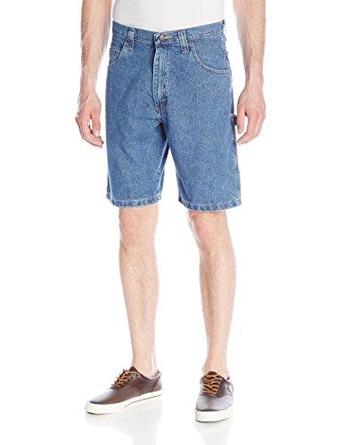 Wrangler Men's Authentics Classic Denim Carpenter Short, Antique Stonewash, 30 - Denim Carpenter Shorts