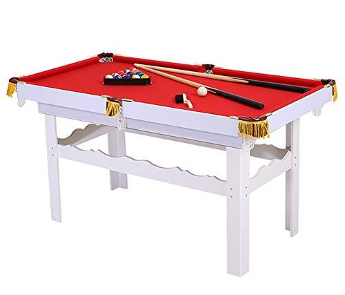 Lcyy-game Tabletop Pool Tisch mit Legs. Beinhaltet 2-Piess-Pool-Cues, 1 Satz Billardbälle, Kreide, Pinsel und Dreieck Rot