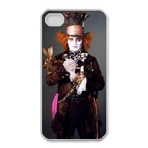 iphone4 4s White phone case Disney Cartoon Comic Series Alice in Wonderland QBC3084028