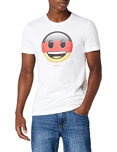 s.Oliver Herren 13.805.32.1234 T-Shirt, Weiß (White 01a4), Large