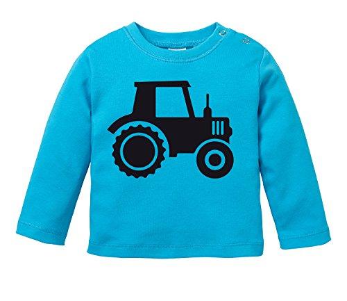 Traktor - Aufdruck für Landwirtschaft begeisterte Kinder - Bio Baby Longssleeve