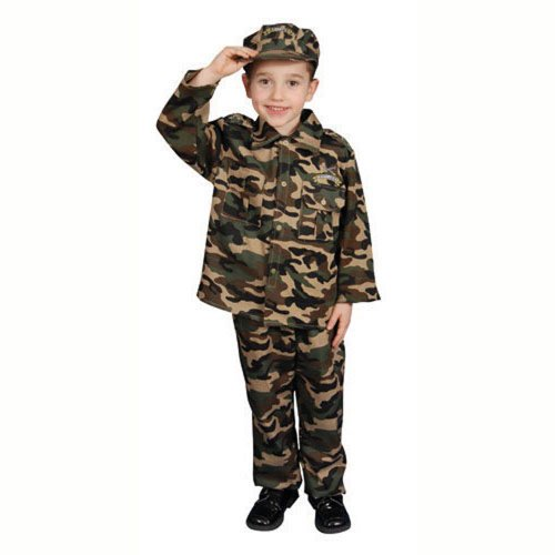 Dress Up America Deluxe Army Soldier Kostüm Set für Kinder