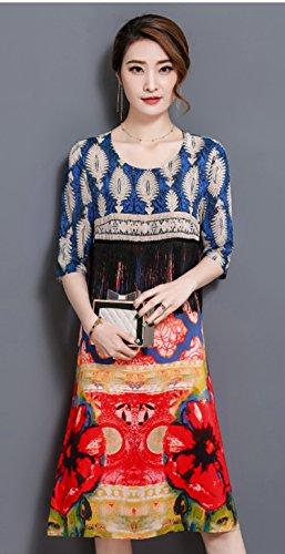 LACUS-UK - Robe - Ajourée - Femme Bleu