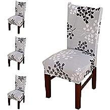 nuosen - 4 Fundas para sillas de Comedor, Modernas y elásticas, Lavables, Fundas