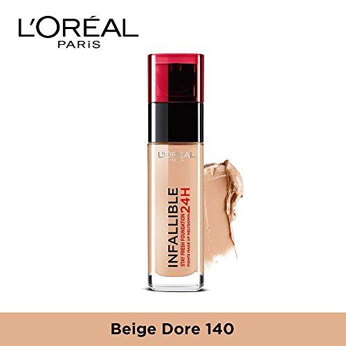 L'Oreal Paris Infallible 24H Foundation, 140 Golden Beige, 30 ml