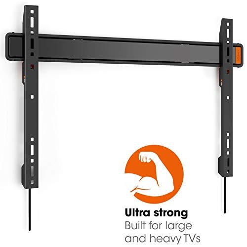 VOGEL\'S WALL 3305 - TV Wandhalterung für extra große (40-100 Zoll) und schwere (max. 80 kg) Fernseher, Fernsehhalterung, TV halter, Flach, Starr, VESA max. 800 x 450 mm, schwarz