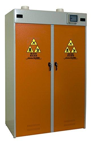 MOMOLINE CMG-120-BASE CHEMIGUARD BASE Armoire de Sécurité pour le Stockage de Produits Chimiques, Un Seul Compartiment, Orange