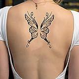 Alas de mariposa etiqueta engomada falso temporal del tatuaje (Juego de 2) - TOODTATTOO.COM