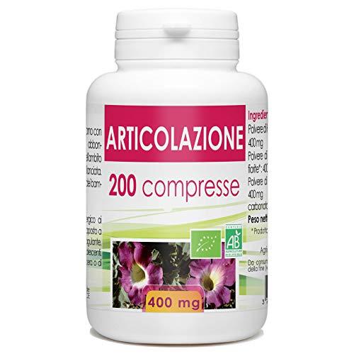 Articolazione Bio - 400 mg - 200 compresse  una miscela di 3 piante biologiche per prendersi cura delle vostre articolazioni