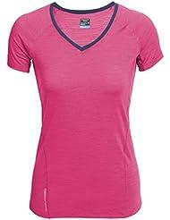 Icebreaker Spark T-shirt de sport à manches courtes et col en V pour femme