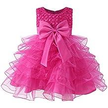 Kidsform Vestito Floreale Bambino Ragazza Bowknot Festa di carnevale Principessa damigella d'onore Pageant Compleanno Bambine e ragazze Nozze gonna
