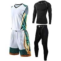 Baloncesto Camiseta De Uniforme Deportiva De Basket Jersey Conjunto De Ropa De Fitness De CompresióN para