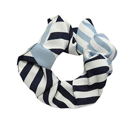 ZIYOU Haar Seil Ring Geschenk für Ladies Mädchen Damen, Frauen Elegant Elastisches Scrunchie Pferdeschwanz Haarband Stirnband (Hellblau-B)
