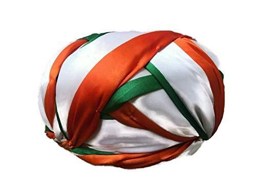 S H A H I T A J Unisex Indian Flag Tiranga or Tricolor Vantma Safa   Turban   Pagdi   Pheta for Kids and Adults - Code TS 21005