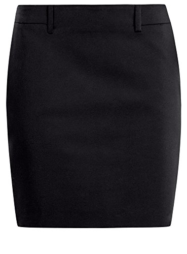 oodji Collection Donna Gonna Mini Aderente Nero (2900N)