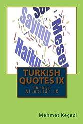 Turkish Quotes IX: Türkçe Alıntılar IX