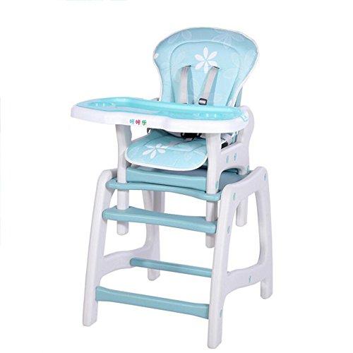 Brisk- 3 In 1 Multifunktion, Tragbar, Zusammenklappbar Esszimmerstuhl Für Kinder, Babystuhl, Babystuhl, Baby Stuhl Rollen ( Farbe : Blau ) (Hochstuhl Abdeckung Sommer)