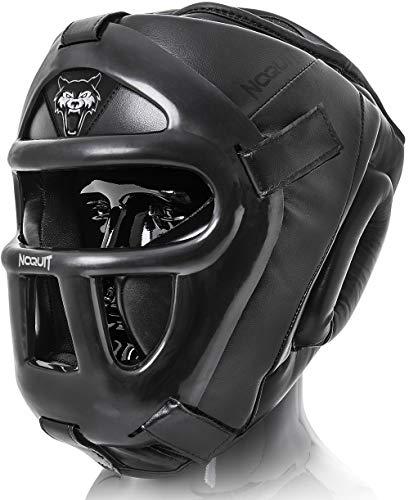 NOQUIT Premium Kopfschutz (Schwarz - Weiß, M)