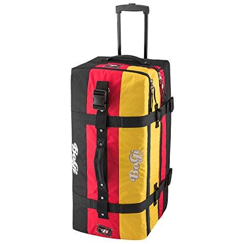 BoGi Bag Reisetasche 110L Rollkoffer Reisekoffer Deutschland Schwarz/Rot/Gold