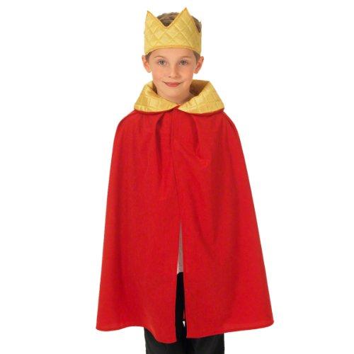Unbekannt Charlie Crow Roter König / Königin Kostüm für Kinder 3-8 Jahre. (Halloween-kostüme Jungen Für Drei)