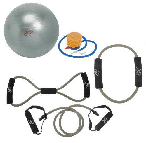 Genérico - Set de aparatos de fitness (7 piezas), color gris