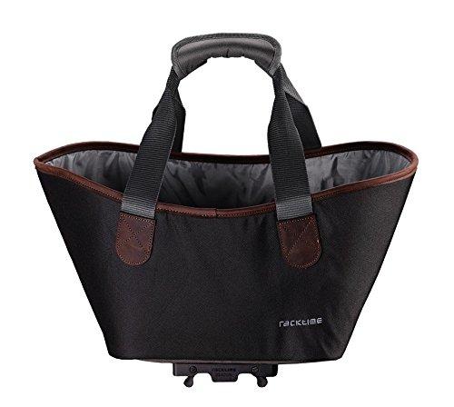 Racktime Unisex- Erwachsene Agnetha Einkaufstasche, Carbon Black, 15 Liter