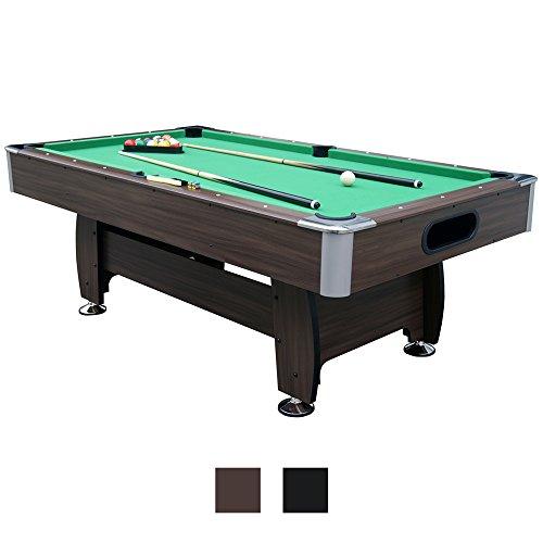 Jalano Billardtisch 7ft Snooker in 2 Farben Pool Billiard Set inkl. Zubehör 214 x 122 x 82 cm (LxBxH) - 7 Fuß Tischbillard mit Kugelrücklauf -