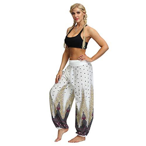 Haludock Männer Frauen Beiläufige lose Hippie Yoga Hosen Baggy Boho Aladdin Hosen Harem Boho Yoga Hosen Krawatte Flaky Floral Funky -