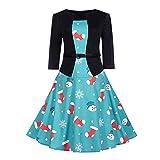 Damen Kleider Weihnachtskleid Xiantime Damen Elegant Kleider Spitzenkleid Langarm Cocktailkleid Knielang Rockabilly Kleid Damen Abendkleid