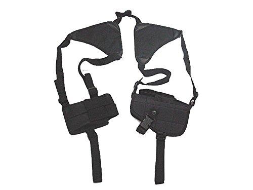 Taktische Universal Nylon Schulter Pistolenholster Magazintasche Airsoft Military Schwarz