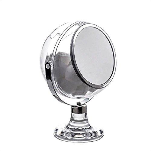 Serene- Kosmetikspiegel mit Kugeln aus Baumwolle, von Showerdrape (Holder Ball Cotton Acrylic)