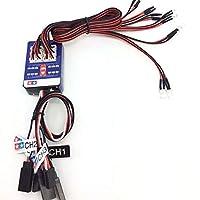 Tickas 12 LED Lighting Kit, Steering Brake Simulation Flash Light for 1/10 Scale Models