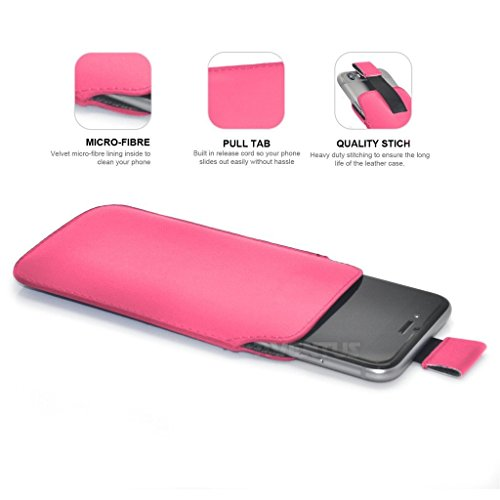 Aventus (Nero) Apple Iphone 6 / Iphone 6s Custodia Protettiva Pull Tab Cord in Finta Pelle per Cellulare Rimovibile con Cucita Banda Estraibile Rosa