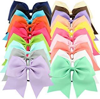 rippte Schleifen für Pferdeschwanz-Halter, elastisches Band, Cheerleading Ties für Mädchen Teenager Senior Kinder Kinder Kleinkinder ()