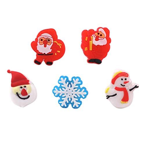 BESTOYARD Weihnachtslicht blinkende Ringe LED Finger Lichter Glow Ringe mit Knopfbatterie für Baby Kid 20 STÜCKE (zufällige Muster)