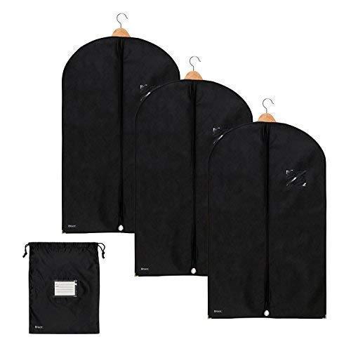 Bruce. 3X Premium Kleidersack inkl. Schuhbeutel | 100 x 60 cm | Optimierte Materialstärke von 120 GSM | Hochwertige Kleiderhülle für Anzug und Kleid | Atmungsaktive Anzugtasche für Reisen
