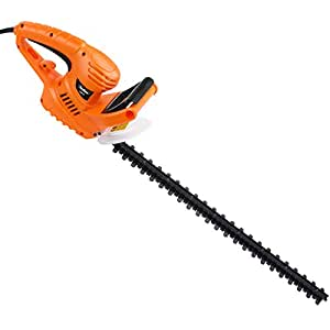 VonHaus Corded Hedge Trimmer / Cutter - 550W Blade Length 610mm, Teeth Spacing 16mm - Lightweight with Hand Guard, Blade Cover & 10m Cable