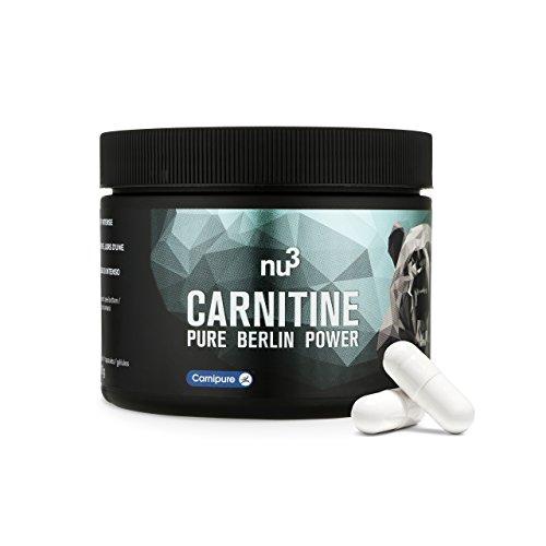 Nu3 carnitina pura 250 capsule alto dosaggio 500mg | integratore alimentare di aminoacidi brucia grassi naturale | qualità premium svizzera carnipure® certificata