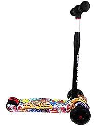 Patinete PLEGABLE con 3 ruedas para niños entre 6 y 12 años TWIST & ROLL. AJUSTABLE REFORZADO en aluminio – CON SISTEMA DE DIRECCION PATENTADO