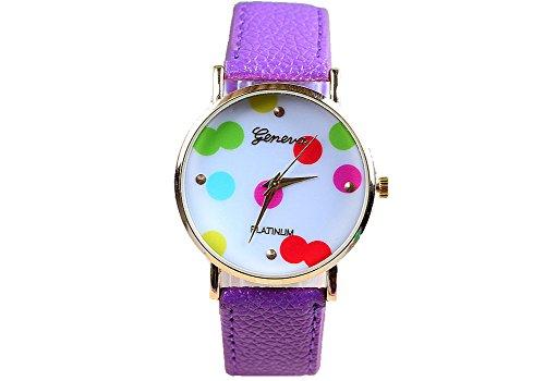 Geneva Geneva Platinum Dots - Reloj Color Morado