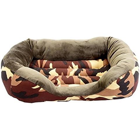 Cama para perro y gato Camuflaje Marrón 100*80cm.