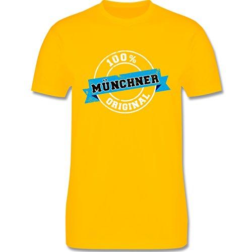 Städte - Münchner Original - Herren Premium T-Shirt Gelb