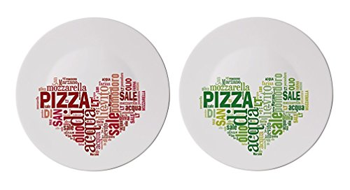 "2x XL Italian Pizza Plates 33cm (13"") Ø Dia (Perfect for sale  Delivered anywhere in UK"
