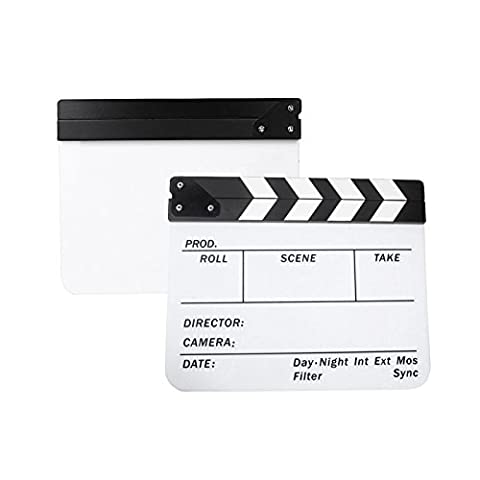 Andoer Film bardeau Acrylique Dry Erase Film Clapper Conseil ardoise 9.6 * 11.7