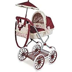 Decuevas Toys - Muñeca Martina, coche con bandeja, bolso y sombrilla, 42x68x81 cm