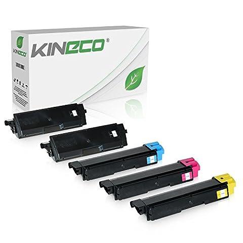 5 Toner kompatibel zu Kyocera TK-590 TK590 für Kyocera Ecosys M6526cdn, Ecosys M6526cdn, FS-C2026MFP, FS-C2126, FS-C2626MFP - Schwarz 7.000 Seiten, Color je 5.000 Seiten
