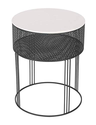 Wrought Iron Coffee Table Round Side Table Rust Proof Metal Table