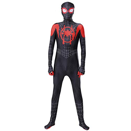 Hulk Kinder Sie Kostüm - BLOIBFS Halloween Spiderman Kostüm Kinder,Halloween Fasching Superheld Spandex Jumpsuits Film Requisiten,Black-110