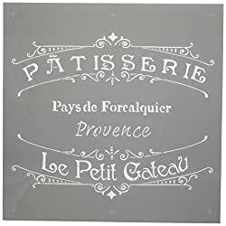 Deco Art Americana Decor Stencil x 12-inch-The French Bakery, None, Extra Large, One Size
